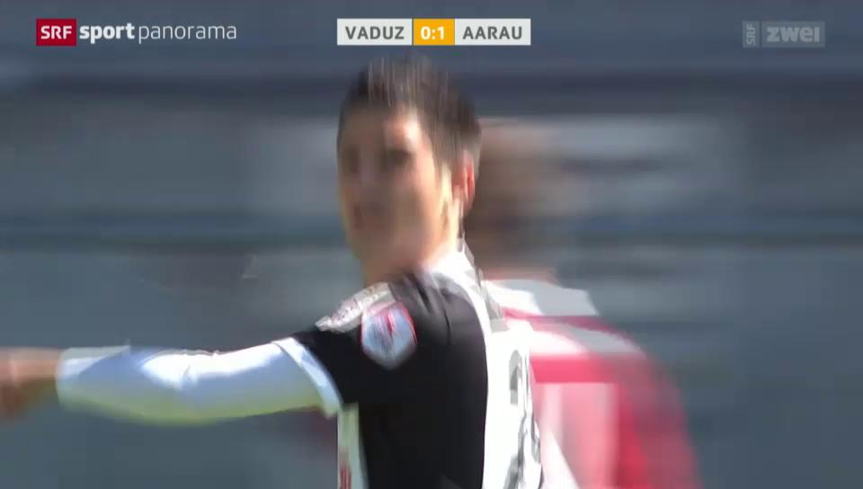 Fussball: Super League, Vaduz - Aarau