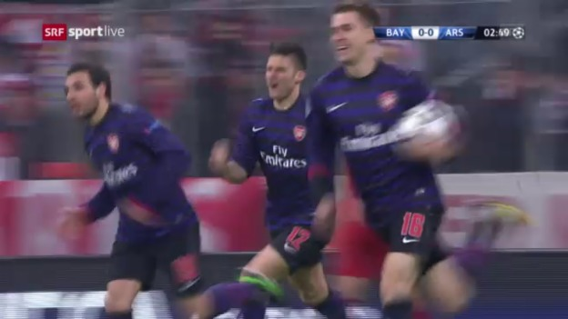 Video «Fussball: Highlights Bayern - Arsenal («sportlive»)» abspielen