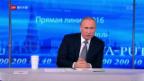 Video «Putin bestreitet Verwicklung in Panama Papers» abspielen