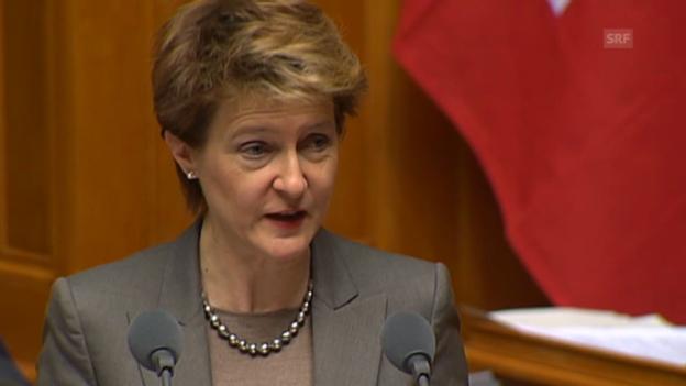 Video «Bundesrätin Sommaruga will Anstrengung belohnen» abspielen