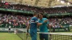 Video «Federer verliert in Halle» abspielen