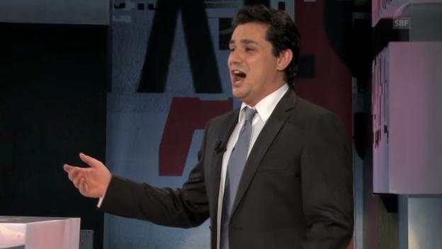 Video «Samir Pirgu mit «Libiamo ne' lieti calici»» abspielen