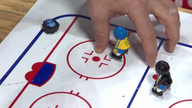 Video «Eishockey: Spengler Cup, Hybrid Icing» abspielen