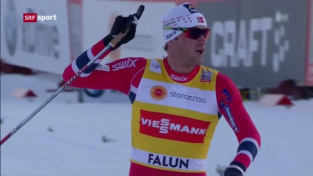 Video «Langlauf: Minitour-Prolog in Falun» abspielen