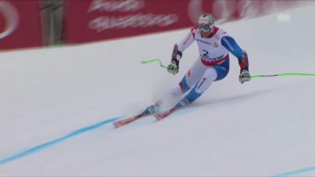 Ski-WM. Super-G, Fahrt von Silvan Zurbriggen