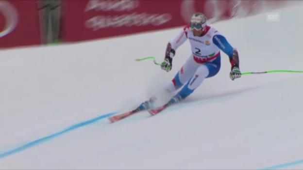 Video «Ski-WM. Super-G, Fahrt von Silvan Zurbriggen» abspielen