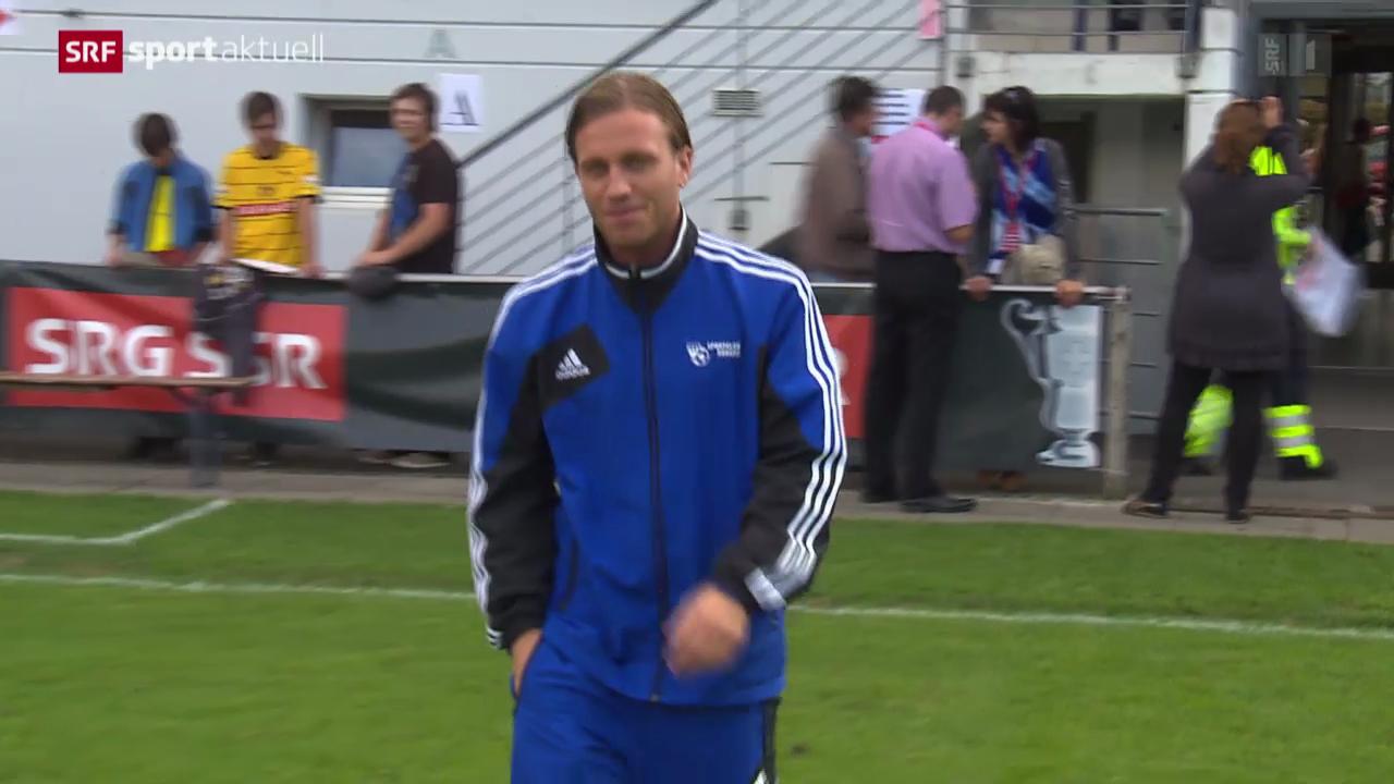 Fussball: Schweizer Cup, Buochs-Captain Christophe Lambert vor der Partie gegen YB