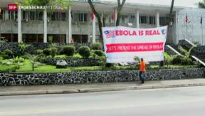Video «Zunehmende Gefahr des Ebola-Virus» abspielen