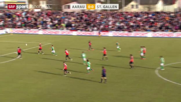 Video «Fussball: Super League, Aarau - St. Gallen» abspielen