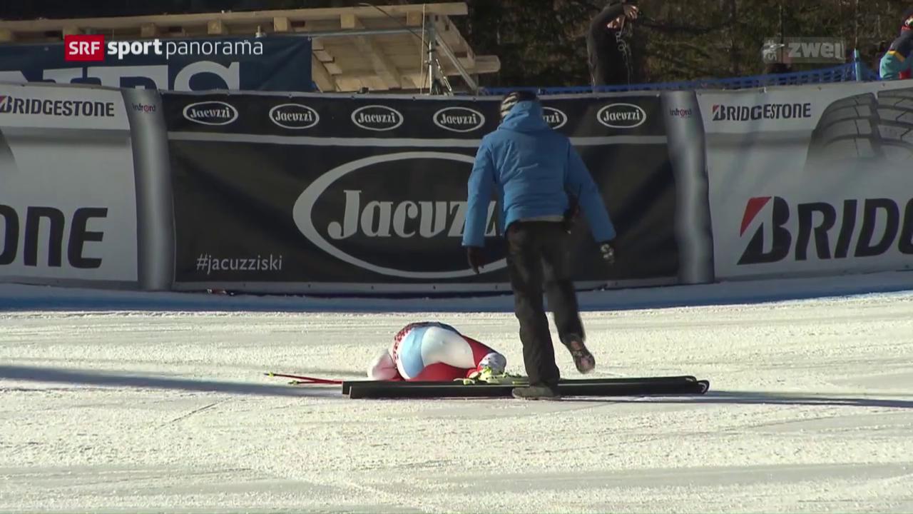 Guts Sturz schockt die Ski-Schweiz