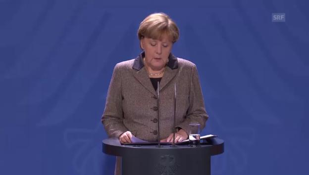 Video «Bundeskanzlerin Merkel zum Anschlag in Istanbul (unkommentiert)» abspielen