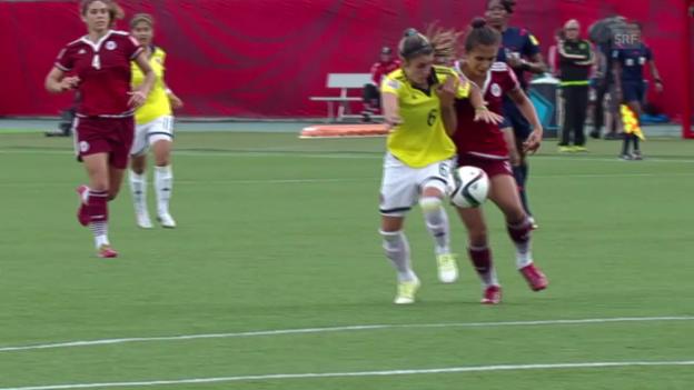 Video «Fussball: Frauen-WM, ZSF Kolumbien - Mexiko» abspielen