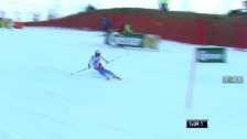Video «Ski Alpin: 2. Lauf Michelle Gisin» abspielen