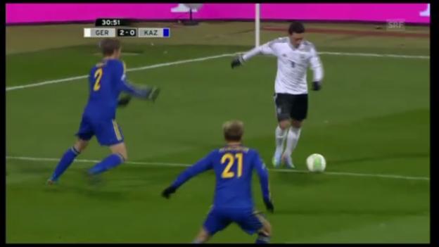 Video «Fussball: WM-Qualifikation, Tore Deutschland-Kasachstan» abspielen