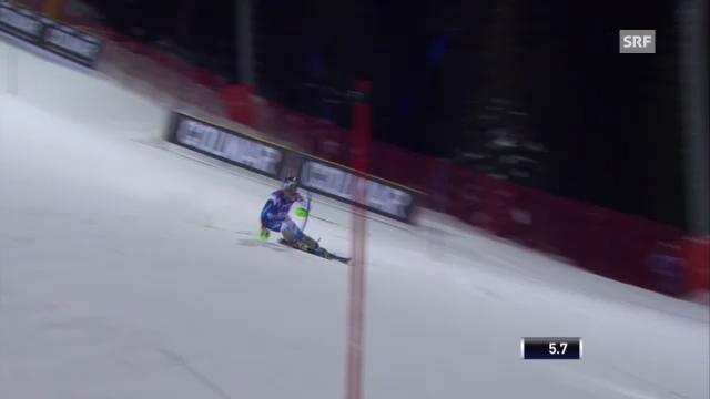Slalom Madonna: 1. Lauf von Luca Aerni