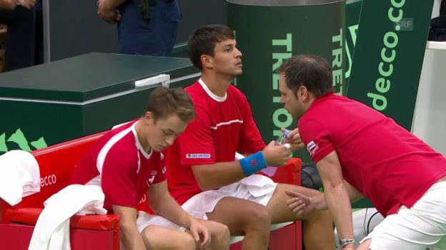 Video «Schweizer Doppel unterliegt im Davis Cup» abspielen
