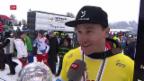 Video «Olympiasieger Galmarini der grosse Star beim Heimrennen» abspielen