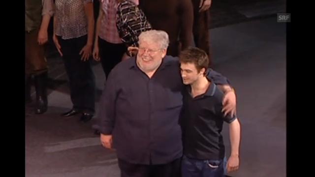 Richard Griffiths und Daniel Radcliffe standen auch gemeinsam auf der Theaterbühne