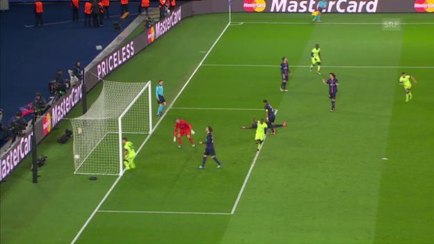 Video «Manchester City erzielt im CL-Viertelfinal-Hinspiel den 2:2-Ausgleich gegen PSG» abspielen