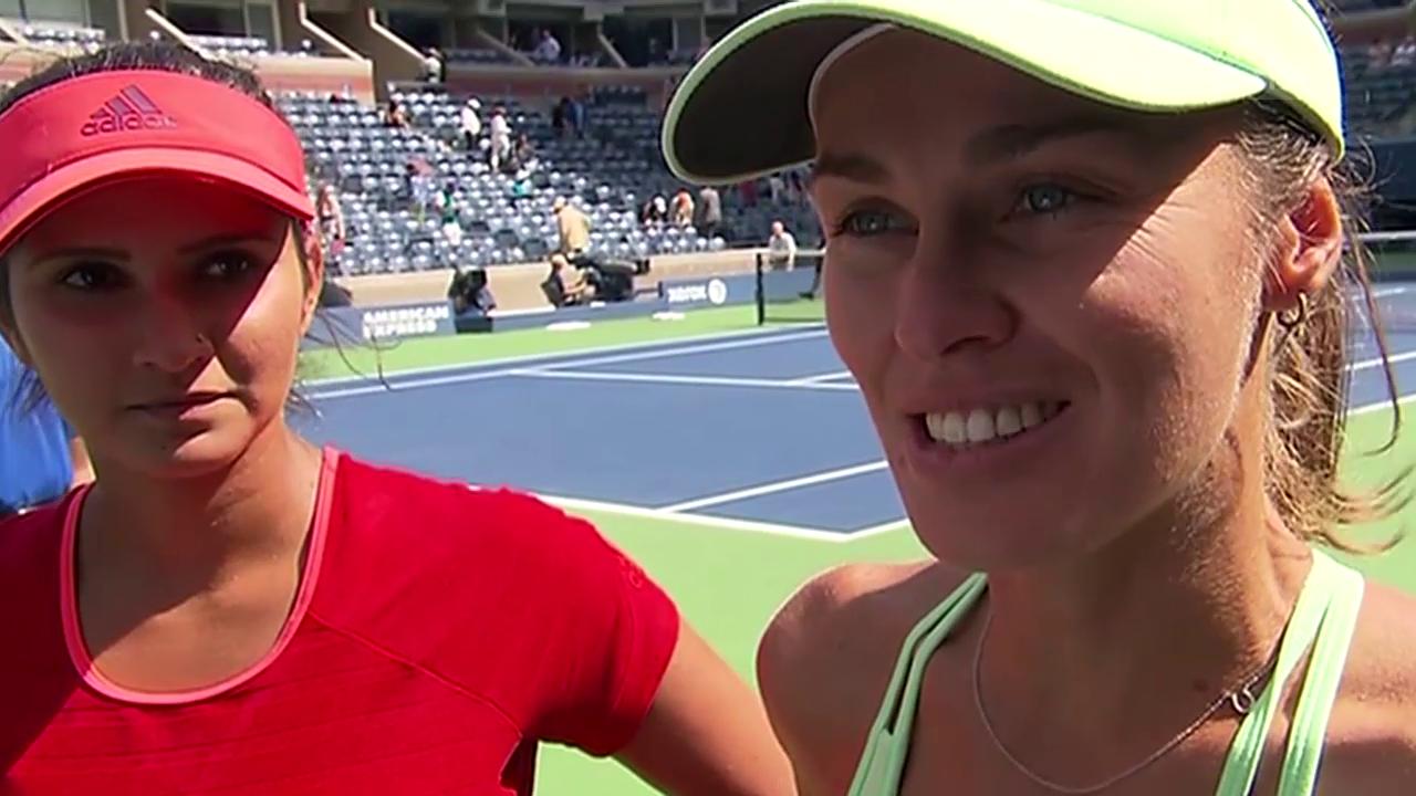 Tennis: Interview mit Mirza und Hingis