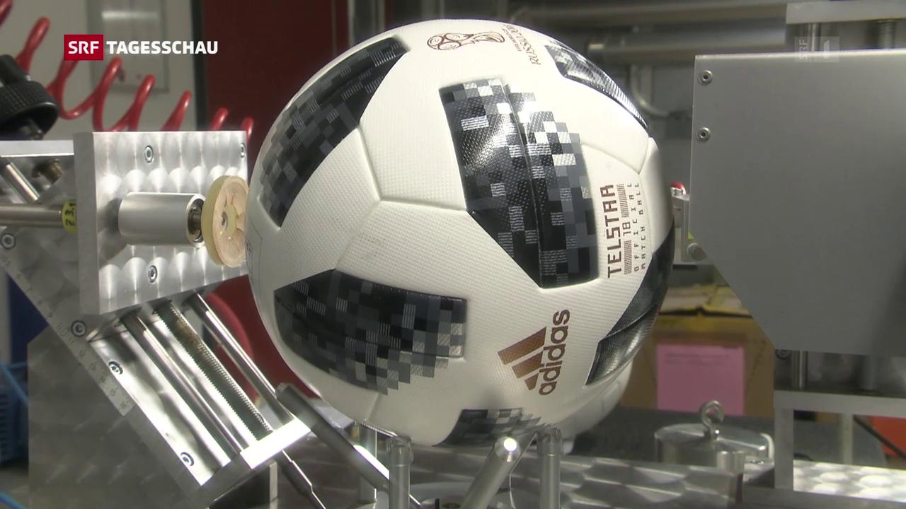 Der WM-Ball Telstar im Härtetest