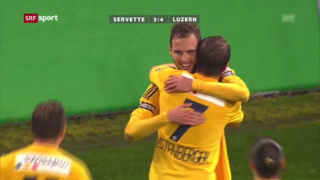 Fussball: Zusammenfassung Servette - Luzern («sportaktuell»)