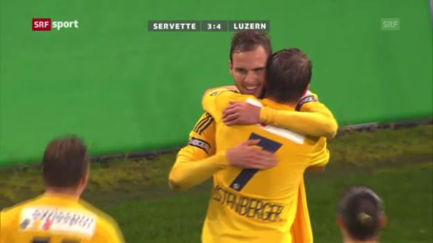 Video «Fussball: Zusammenfassung Servette - Luzern («sportaktuell»)» abspielen