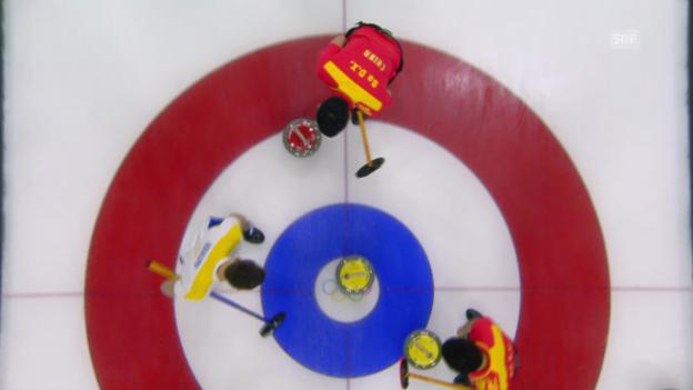 Video «Curling: China-Schweden, die Entscheidung (sotschi direkt, 21.2.2014)» abspielen