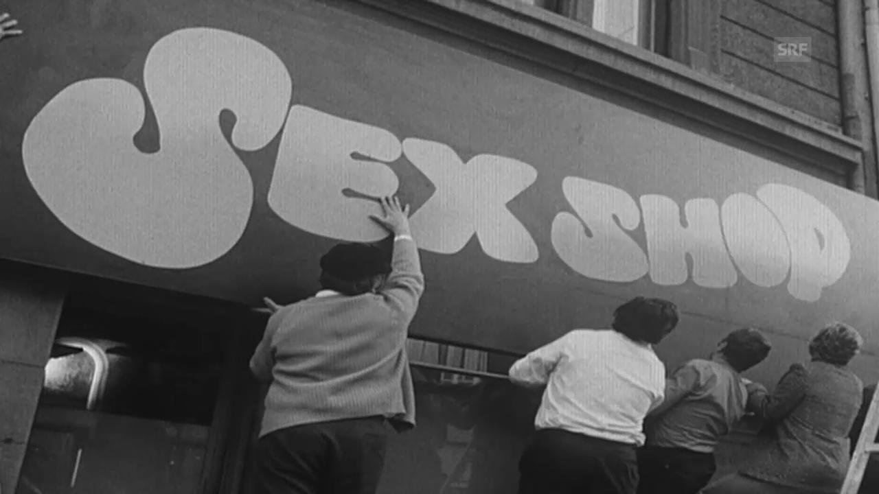 Erster Sexshop der Schweiz («Antenne», 7.10.1971)