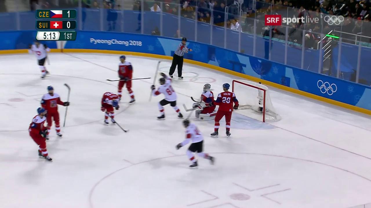 Das 1:1 für die Schweiz gegen Tschechien