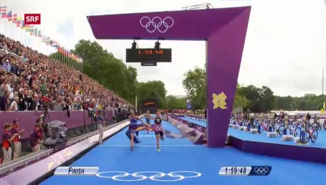 London 2012: Triathlon, Spirigs Triumph im Frauen-Rennen