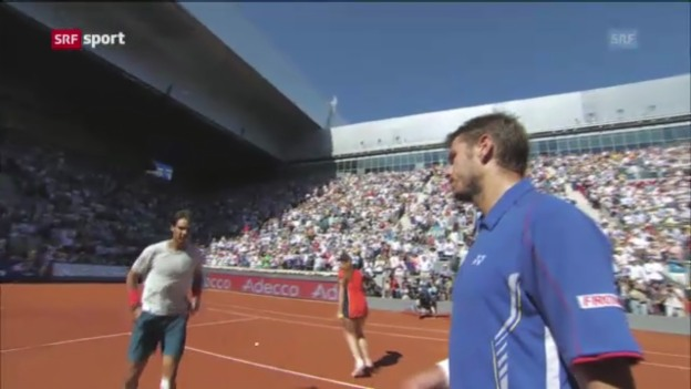 Video «Nadal entzaubert Wawrinka» abspielen