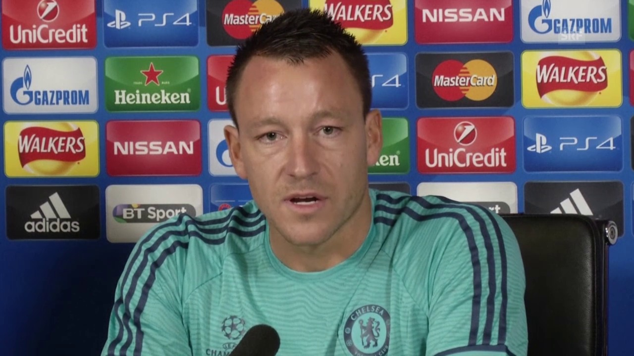 Fussball: Champions League, Chelsea-Verteidiger John Terry vor dem CL-Spiel gegen Kiew (englisch, SNTV)