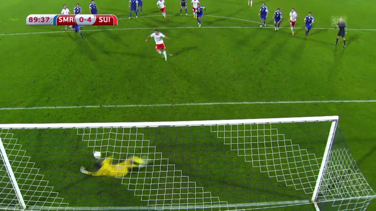 Fussball: San Marino-Schweiz, Rodriguez-Penalty