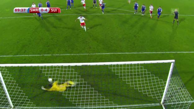 Video «Fussball: San Marino-Schweiz, Rodriguez-Penalty» abspielen