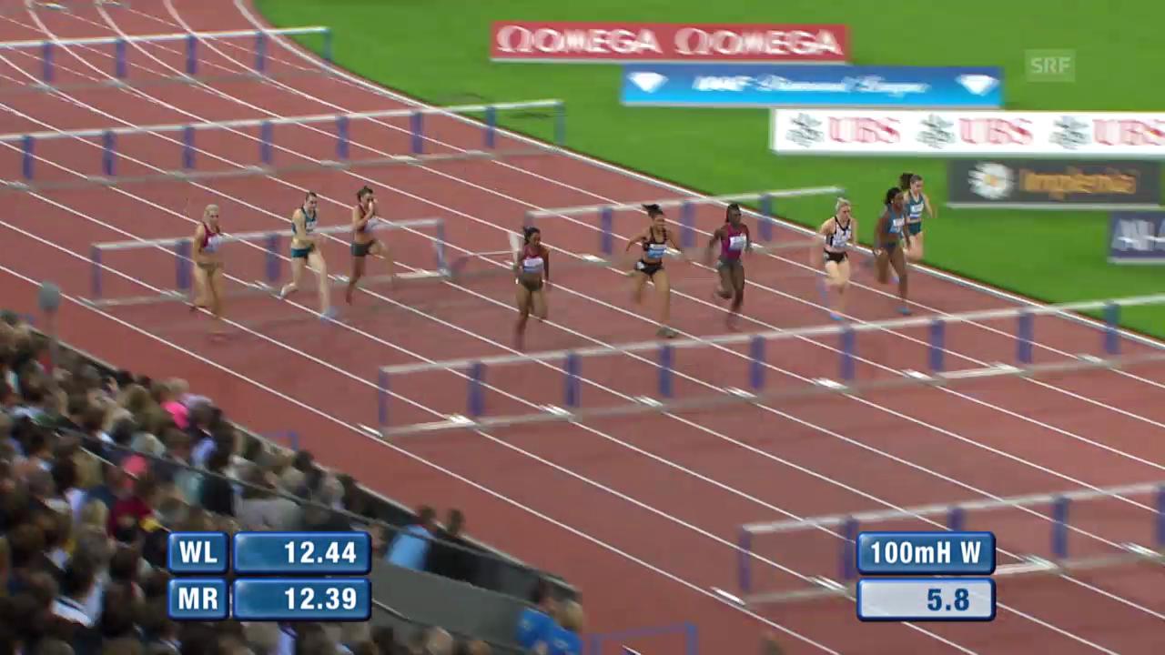 Leichtathletik: Weltklasse Zürich, 100 m Hürden Frauen