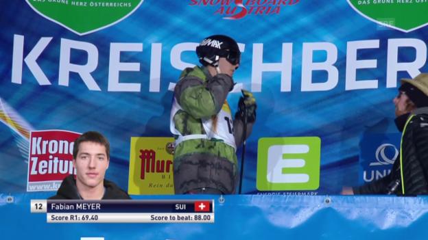 Video «Freeski: Halfpipe, Sturz Florian Meyer» abspielen