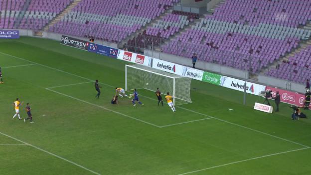 Video «Luzern mit knappem Sieg bei Servette» abspielen