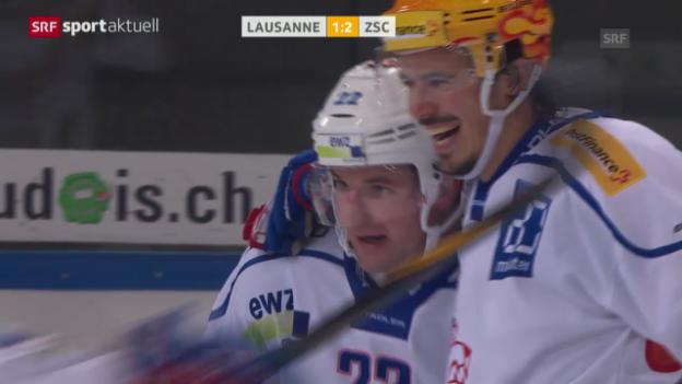 Video «Eishockey: Matchbericht Lausanne-ZSC Lions («sportaktuell»)» abspielen