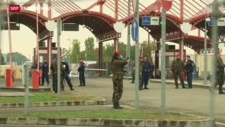 Video «Ungarn schliesst Grenze zu Kroatien» abspielen