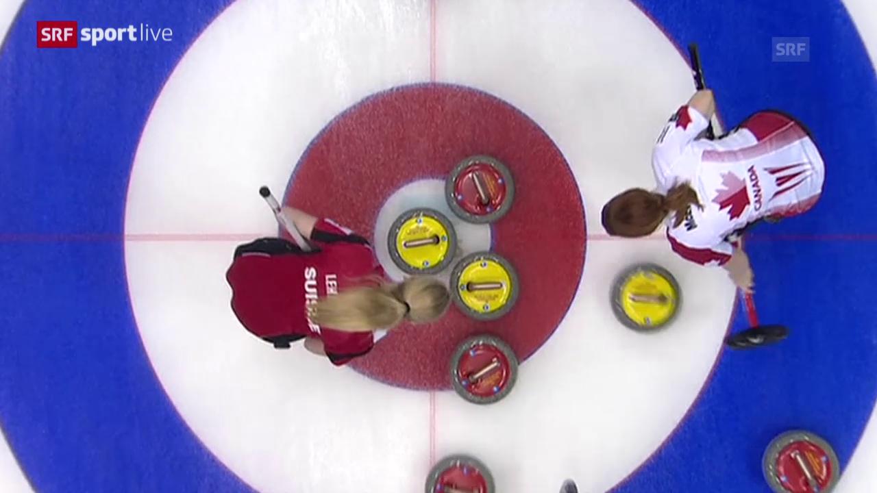 Curling-WM: Schweizerinnen in Playoffs
