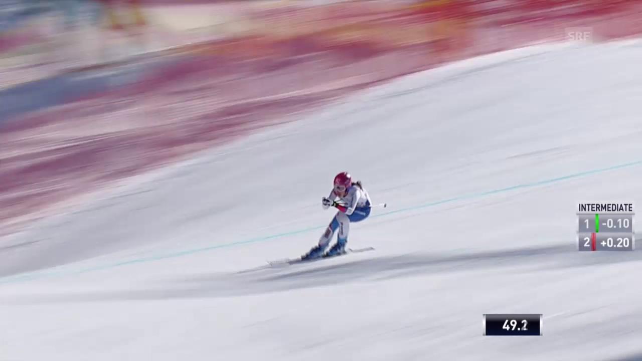 Ski: Frauen-Abfahrt in Garmisch-Partenkirchen, Fahrt von Dominique Gisin