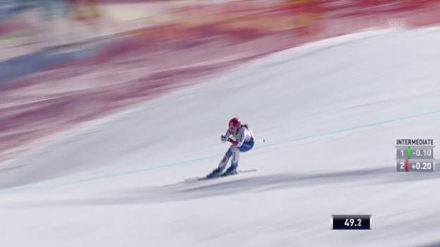 Video «Ski: Frauen-Abfahrt in Garmisch-Partenkirchen, Fahrt von Dominique Gisin» abspielen