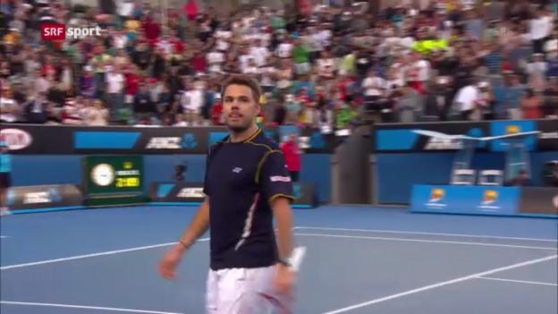 Video «Australian Open: Wawrinka - Querrey («sportaktuell)» abspielen