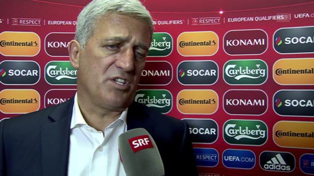 Video «Fussball: EURO-Qualifikation 2016, Litauen - Schweiz, Interview Vladimir Petkovic» abspielen