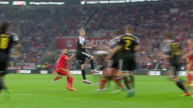 Video «Fussball: EM-Quali, WAL-BEL, Tor zum 1:0» abspielen
