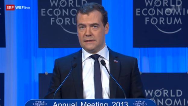 Video «Dimitrij Medwedew am WEF 2013» abspielen