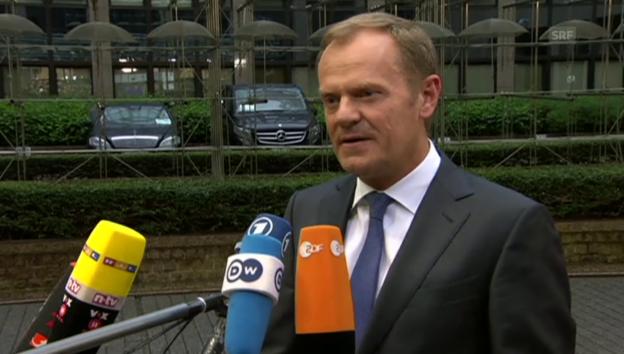 Video «Lobende Worte von EU-Gipfelchef Donald Tusk» abspielen