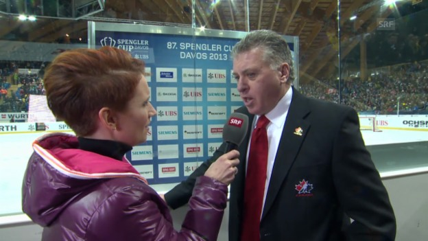 Video «Eishockey: Spengler Cup, Interview mit Doug Shedden» abspielen