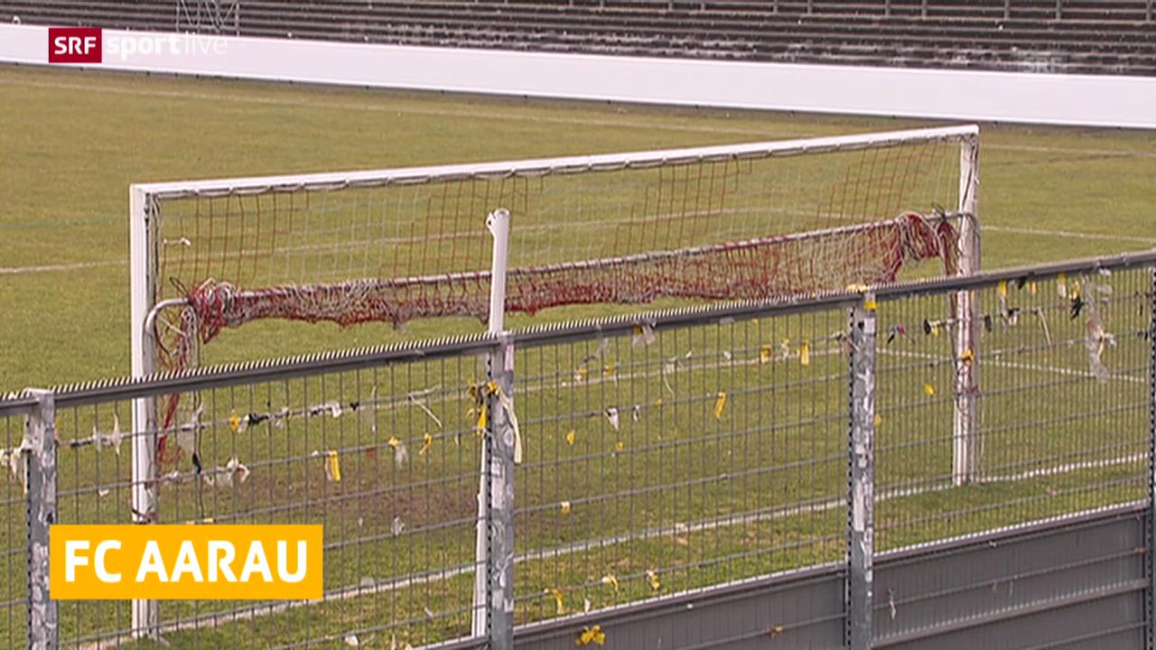 Fussball: Aarauer Gästesektor gesperrt
